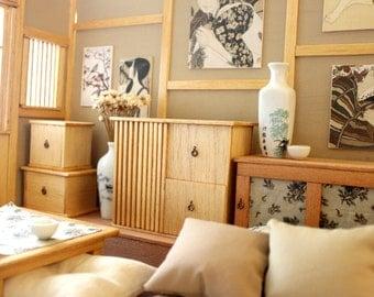 """Japanese room doll Diorama """"Japanese Feeling"""" -Blythe/Pullip/Lati/Pukifee/Yosd/BJD"""