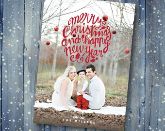 Modern Christmas Photo Card *DIGITAL DOWNLOAD*