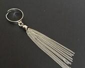Silver tassel ring