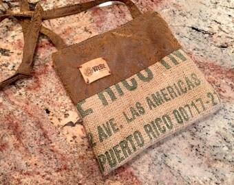 Espresso Bag Flowery Brown Eco Leather Las Americas
