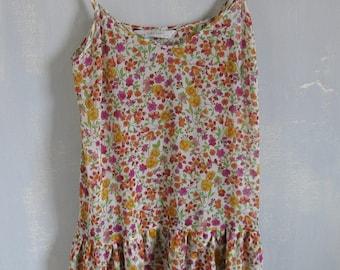 Flower Dress Spring/Summer Dress 90s Flower Dress Sleeveless Dress