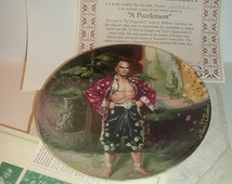 1985 Knowles First Issue A Puzzlement The King and I Plate w/ COA & Box
