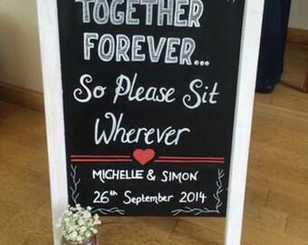 Additional wedding chalk board text