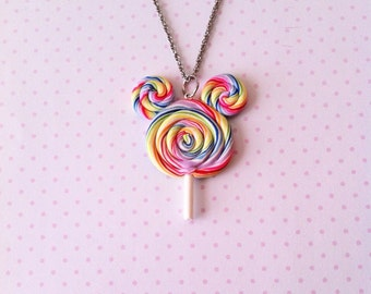 SALE Specialty Lollipop necklace, polymerclay