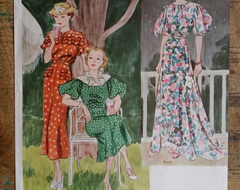 Pages from McCall's pattern book 1939