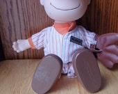 Charlie Brown Baseball Doll Peanuts Gang Baseball Charlie Brown Cartoon Charlie Brown Movie Great shape 1960