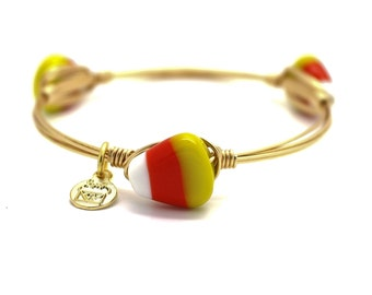 CLEARANCE - Candy Corn Wire Wrapped Bangle