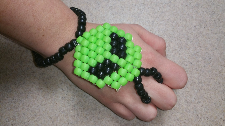 Alien Kandi Slave Bracelet, Alien Kandi Bracelet, Kandi Slave Bracelet,  Alien Kandi,