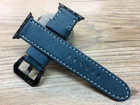 Leather Watch Band | Leather Watch Strap | Apple Watch Strap | Apple Watch Band | Filoli Dark Iris Leather For Apple Watch 38mm & 42mm