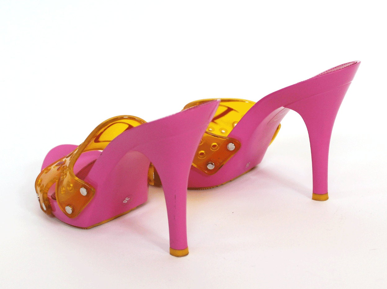 Yellow And Pink Heels