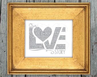 Custom Love Story Printable