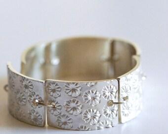 """Poppy"" silver bracelet"
