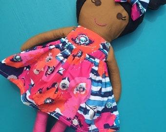 Custom Fabric Girl Doll FREE SHIPPING