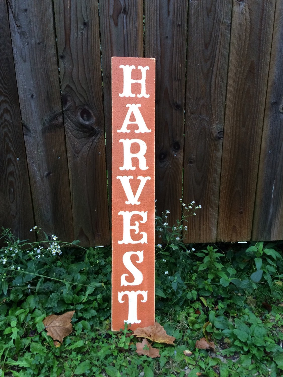 Harvest Sign On Barnwood For Fall Front Porch Decor: Fall Decorations. Fall Signs. Harvest Wooden Sign. Great Fall