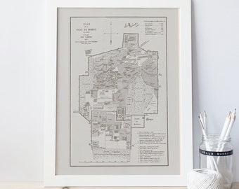 VINTAGE MARRAKECH MAP - Antique Map of Marrakech, Morroco Map, Professional Reproduction