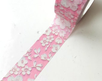Pink cherry blossom Washi Tape, floral