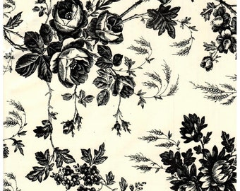 Black Toile Contact Paper