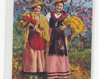 Cote D'Azur France Bouquetieres Women And Flowers Old Postcard/Unused