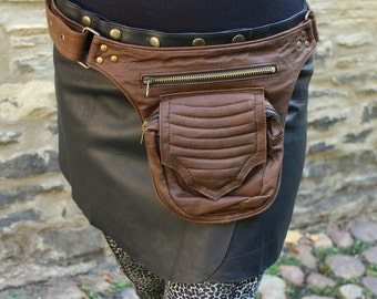 Brown Leather Hip Bag