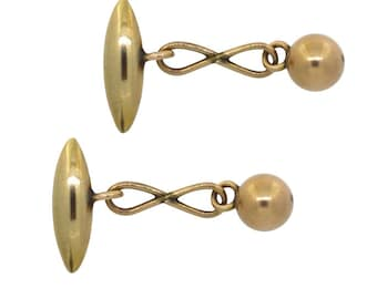 Antique Gold Cuff Links