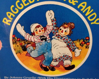 Little Treasury of Raggedy Ann & Andy, a collection of six delightful tales by Johnny Gruelle with hard board pages for little readers.