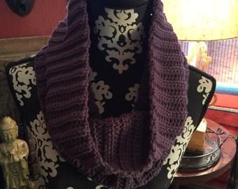 Crochet Ribbed Cowl