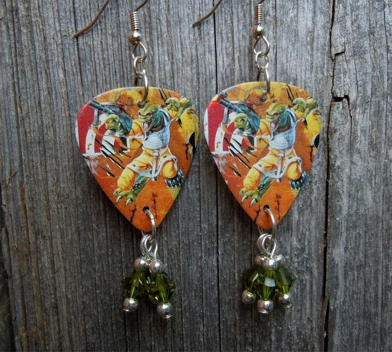 star wars bessk guitar pick earrings with green by itsyourpick. Black Bedroom Furniture Sets. Home Design Ideas