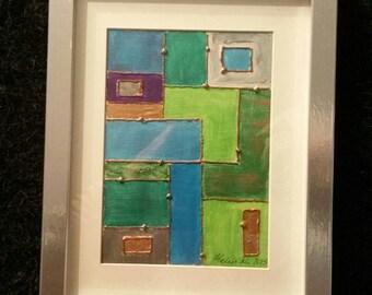 Green Mosaic - Original Art By Helen McMahon