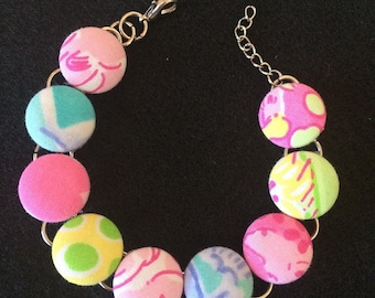 Lilly Pulitzer Fabric Bracelet