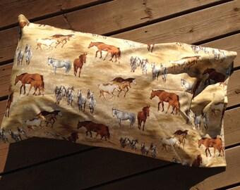 Horse Pillow Case, Cotton Pillow Case, Queen Pillow Case, Pillow Case