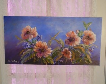 Stunning Acrylic Floral Painting on Canvas!
