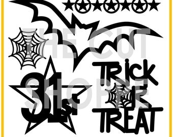 The Wicked Fun cut file set includes 5 Halloween themed images, that can be used for your scrapbooking and papercrafting projects.