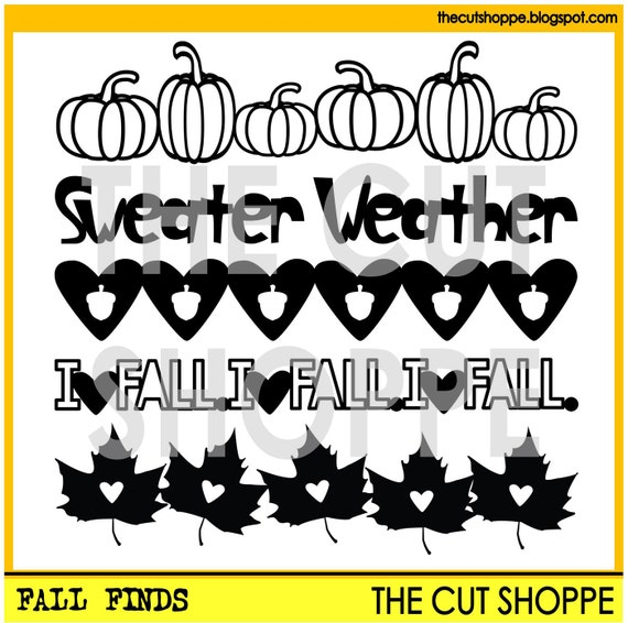 The Fall Finds cut file set includes 5 Fall themed images, that can be used on your scrapbooking and papercrafting projects.