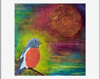 Bird home decor, Bird art print, Bird wall art, Bird photo print, Bird lover gift, Colorful bird art, Bird gift, Bird art (unmated/unframed)