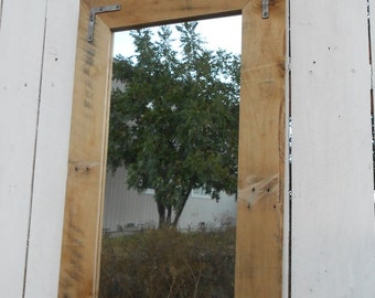 """Upcycled Pallet Mirror - 18"""" x 30"""""""