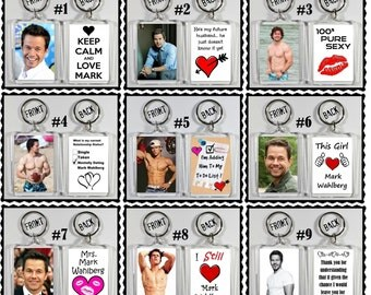 Mark Wahlberg Keychain Key Ring - Many Designs To Choose From Shirtless