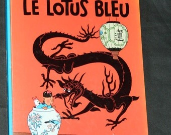 Album Tintin. 'The blue LOTUS'. The adventures of TINTIN. year 1946