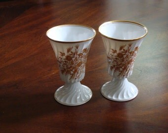 Haviland Limoges France FLOREAL MAZAGRAN Goblets (2)!