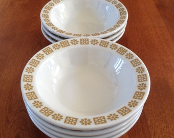 Shenango Daisy Flower Diner Cereal / Oatmeal Bowls (4)