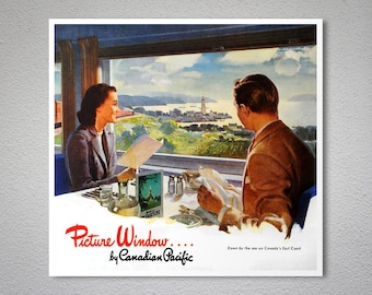 Picture Window by Canadian Pacific - Poster Print, Sticker or Canvas Print