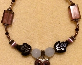 Purple Owl Bracelet