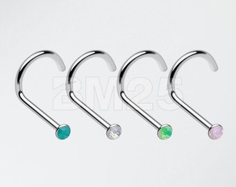 4 Pcs of Opalite Nose Screw Ring Pack