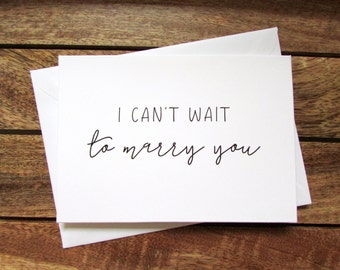 I Can't Wait to Marry You | To My Groom on Our Wedding Day Card | To my Bride on Our Wedding Day Card | Folded A6 Card & Envelope