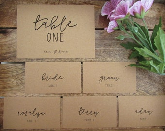 CUSTOM -- Place Cards -- for Nicole
