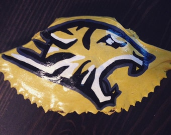 Towson Tiger's - Handpainted Crab Shell