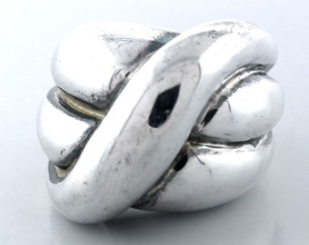 Charles Krypell .925 Sterling Silver Crossover Ring