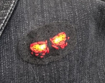 Glowing Eyes Embroidered Patch