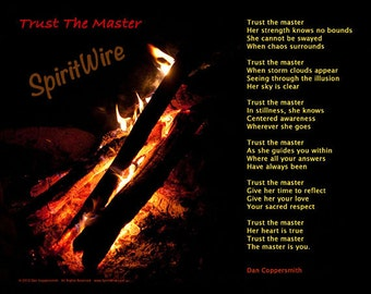 Trust The Master Poem by Dan Coppersmith, Uplifting Poem & Photography, Empowering Poem