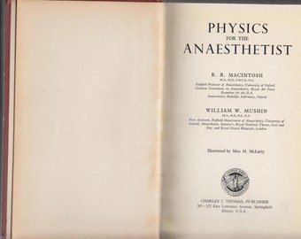 Physics for the Anaesthetist R.R. MacIntosh