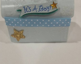 baby shower party favors,it's a boy baby shower,blue candy boxes,it's a boy candy box,baby shower boy party favors,recuerdos,small candy box